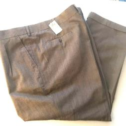 Casual Male Big Tall Gold Series Dress Pleated Pants Brown C