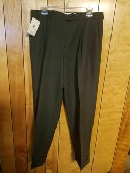 CHAPS Mens Dress Pants 34 x 30 WOOL Pleated GRAY Fashion Ral
