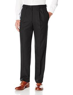Haggar Men's Cool 18 Pro Classic Fit Pleat Front Expandable