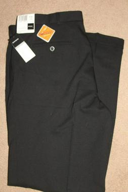 Slates Dockers Relaxed Fit Mens Dress Pants Black Pleated Cu
