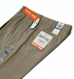 Dockers Easy Khaki NEW Mens Brown 36X34 Pleated Cuffed Relax