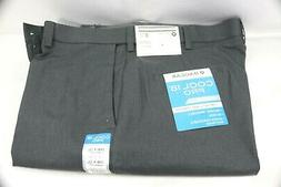 Hagger Men's Cool 18 Pro Heather Solid Flat Front Pant Class