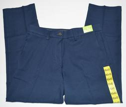 Haggar in Motion Flat Front Straight Fit Men's Blue Pants NE