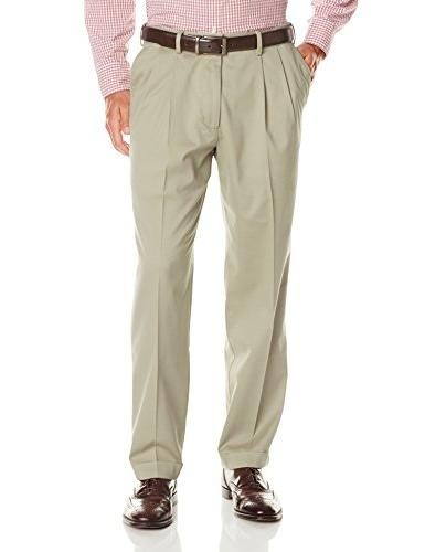 comfort relaxed pleated pants