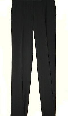 High Fashion Black Mens Casual Dress Pants Size 42 100% Wool