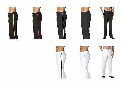 CONCITOR Dress Pants Front Satin Band Trousers