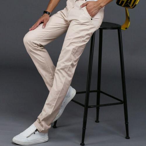 Mens Chinos Dress Casual Trousers