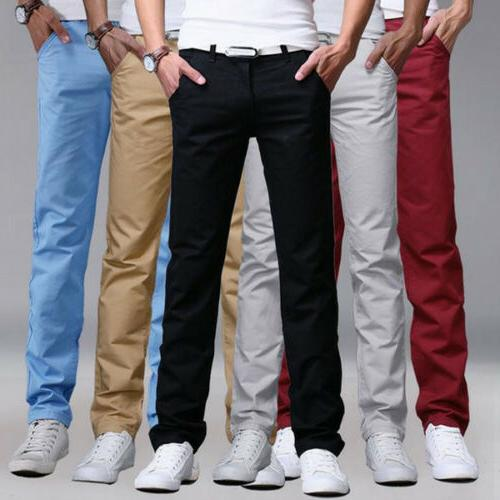 Mens Formal Business Dress Pants Casual Smart Cotton