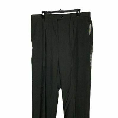 new mens pants flat front charcoal size