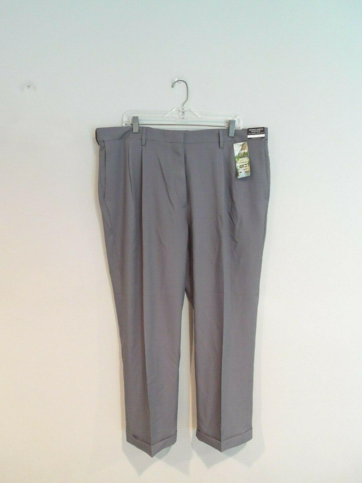 NEW Mens Comfort Pants Size 42x29 Stretch Fit