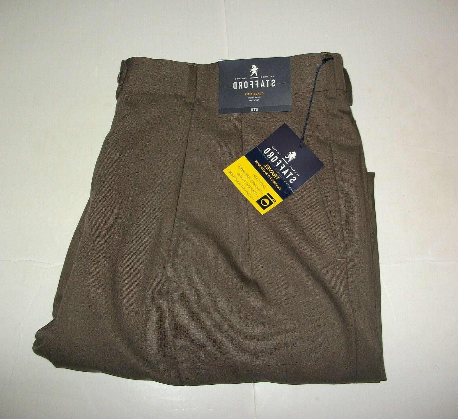 new mens travel classic fit brown dress