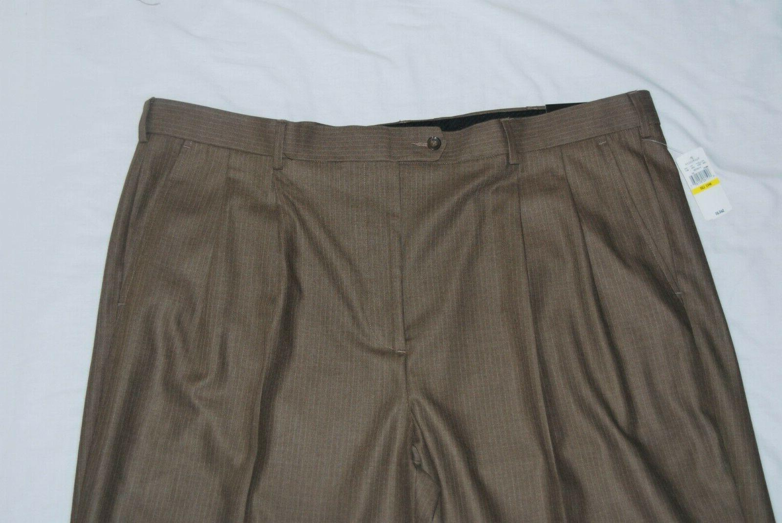 VAN HEUSEN / THIN BEIGE PLEATED RELAXED W