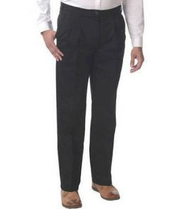 MEN'S PANTS- GEORGE PLEATED FRONT PANT- CLASSIC FIT- EASY CA