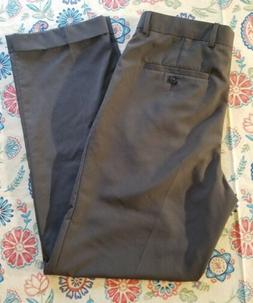 STAFFORD MEN'S SIZE 32 X 32 BROWN PLEATED FRONT DRESS PANTS