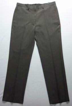 Haggar Men's Travel Performance Suit Pants Tailored Fit Brow