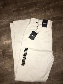DKNY Mens Beige Relaxed Fit Chinos Stretch Casual Career Dre