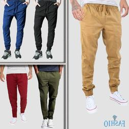 Mens Casual Cotton Dress Pants Skinny Slim Fit Straight-Leg