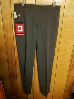 Chaps Mens Dress Pants 36 x 34 GREY Comfort Fit Easy Care St