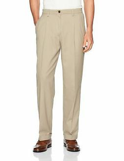 Dockers Mens Dress Pants Beige Size 34x29 Pleated Relaxed Kh