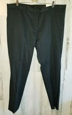 Calvin Klein Mens Dress Pants Gray Size 38x30 Solid Flat Fro