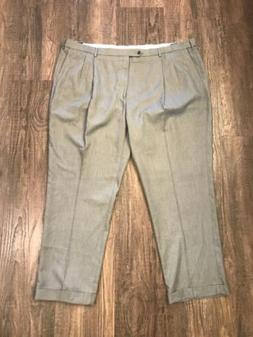 Saddlebred Mens Dress Pants Suit Separates Cuffed Gray 50x32