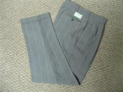 Stance Mens Pants Gray Pinstripe Pleated 30 x 34 32 X 32  34