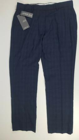 New Michael Brandon Mens dress pants Navy Slim Flex fit  34x