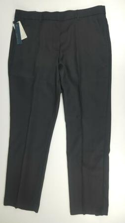 New Perry Ellis Mens Dress Pants Slim Fit Pleated Cuffed Bla