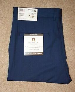 New Mens JM Haggar 33 X 30 Dress Pants Slim Fit Flat Front F