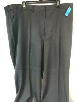New Haggar Mens Size 44X30 Straight-Fit Flat Front Non-Iron