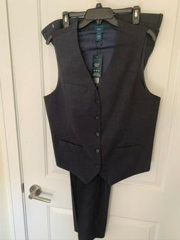 New Mens Perry Ellis Suit Vest & Dress Pants 34 x 32 LG