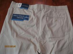 NWT $45 Croft & Barrow Men's Classic Fit Pleated  The Easy