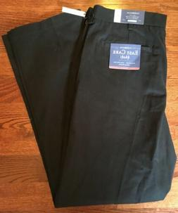 NWT Croft & Barrow Easy Care Classic Fit Flat Front Black Pa