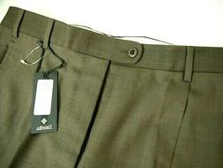 NWT Zanella Mens Dress Pants 34 Tommy Solid Taupe Brown $279