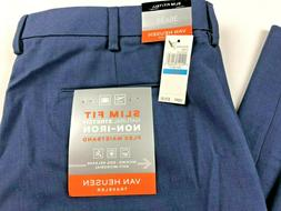 NWT Van Heusen Traveler Dress Pants TALL No Iron Slim Fit Fl