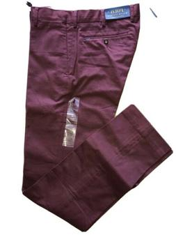 POLO RALPH LAUREN Mens Maroon Stretch Slim Fit Chino Casual