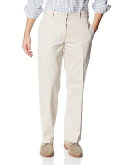 IZOD Men's Saltwater Flat Front Classic Fit Chino Pant, Ston