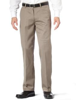 Lee Men's Stain Resistant Relaxed Fit Flat Front Pant, Olive
