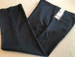 HAGGAR Travel Performance Suit Pant Straight Fit 42x30 Black